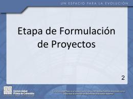 2. Etapa Formulacion de Proyectos