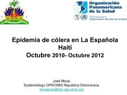 Cólera en Haití - Oficina virtual del COMISCA