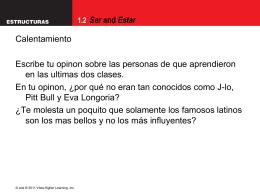 1.2 Ser and Estar