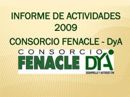Informe de labores 2009 consorcio FENACLE DYA