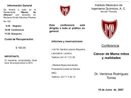 Sin título de diapositiva - Instituto Mexicano de Ingenieros Químicos