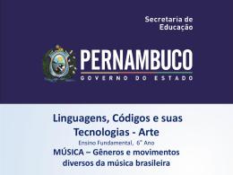 Gêneros e movimentos diversos da música brasileira