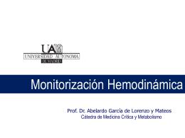 Monitorización del paciente crítico