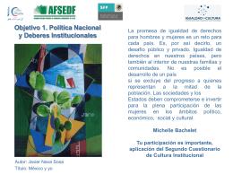 Objetivo 1. Política Nacional y Deberes Institucionales