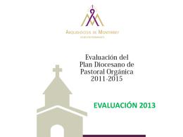 Resultados de la Evaluación del año pastoral 2013