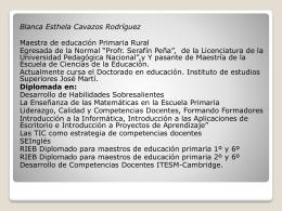 Blanca Esthela Cavazos Rodríguez