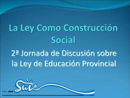 La Ley Como Construcción Social - Mendoza