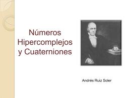 Numeros Hipercomplejos y Cuaterniones_Version2003