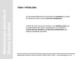 Tema/Problema - Cátedra Galán