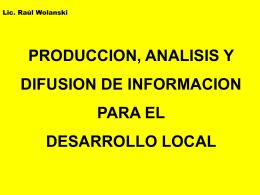 Producción Análisis y Difusión de Información para el Desarrollo
