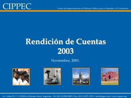 Rendición de Cuentas 2003