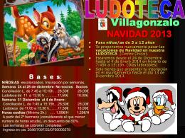ludoteca navidad - Villagonzalo Pedernales