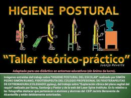 Higiene postural - AMPA Colegio Fulgencio Ruiz