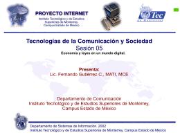 Sesión 05 - Fernando Gutiérrez :: Tecnología y Sociedad