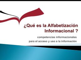 ¿qué es la Cultura Informacional?