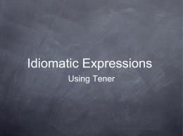 Idiomatic Expressions - Edmond Public Schools