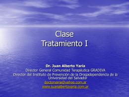 Conferencia – Clase Tratamiento.