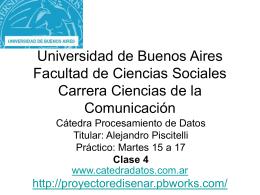 Universidad de Buenos Aires Facultad de Ciencias