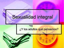 Sexualidad integral - Consejo Argentino del Alcoholismo