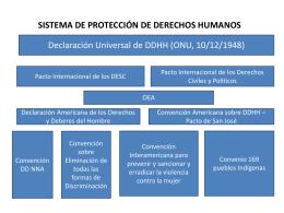 SISTEMA DE PROTECCIÓN DE DERECHOS HUMANOS