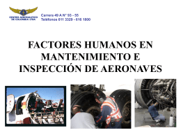 FACTORES HUMANOS EN MANTENIMIENTO E INSPECCIÓN DE