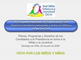 XI Encuentro Nacional: A 20 años de la CDN Derechos Humanos