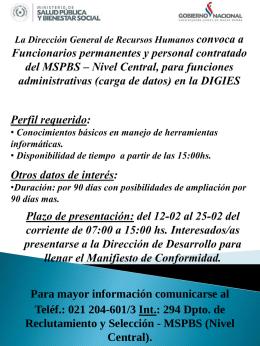 Dirección de Desarrollo de Recursos Humanos TRASLADO DE
