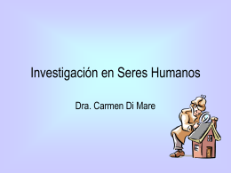 Investigación en Seres Humanos - Di