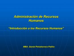 Introducción a los Recursos Humanos