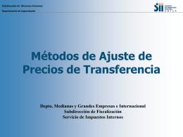 Métodos de Ajuste - Servicio Nacional de Aduanas