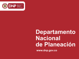 septiembre 2014 - Departamento Nacional de Planeación