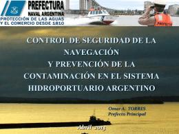 unidad de control de seguridad de la navegacion y prevencion de la