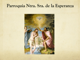 CURSO prebautismal - PARROQUIA NTRA. SRA. DE LA