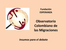 Colombianos y colombianas en España