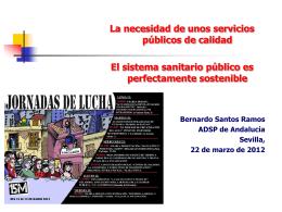 Presentación sobre el Sistema Sanitario Español