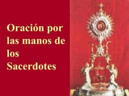 Oración manos del sacerdote