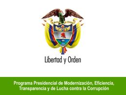 Programa Presidencial de Modernización, Eficiencia