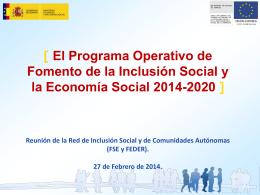 El Fondo Social Europeo período de programación 2007