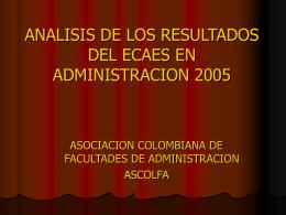 análisis ecaes 2005 ascolfa