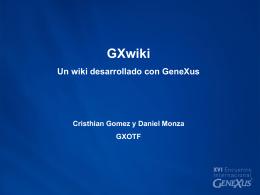 GxWiki - GeneXus