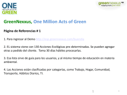 GreenNexxus, One Million Acts of Green Página de