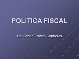 Política Fiscal - cesaroctavio.org