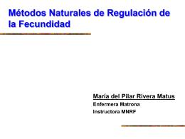 Métodos Naturales de Regulación de la Fecundidad