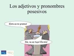 Possessive adjectives and pronouns to go with