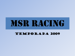 MSR RACING - Tu patrocinio