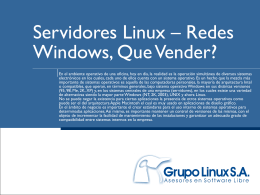 Servidores Linux – Redes Windows, Que Vender?