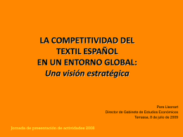 la competitividad del textil español en un entorno global