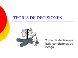 Toma de decisiones bajo riesgo