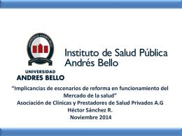 Implicancias de reformas en el mercado Asoc Clínicas 11-2014