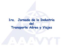 1ra Jornada de la Industria del Trasporte Aereo y Viajes